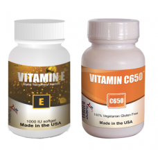 High Potency Vitamin C (60) & Vitamin E (30) Combo Pack(Capsule 60/30ct) (Click here for DETAILS)