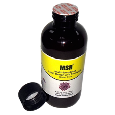 MSR-Organic Cough, Cold, Flu Throat Infection, Stuffy Nose Relief (ONE BOTTLE 120 ml) (Click here for DETAILS)
